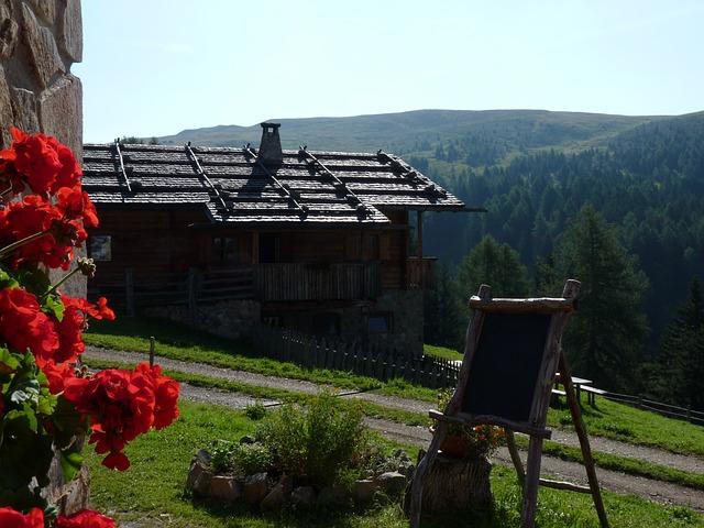 Free alm mountains hut south tyrol