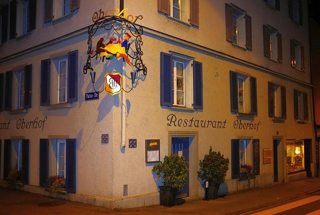 Free zurich switzerland building outside restaurant