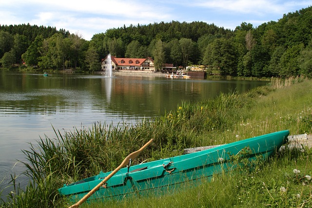 Free sohland germany lake building canoe boat grass