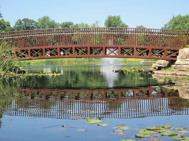 Free bridge park lake fountain summer landscape