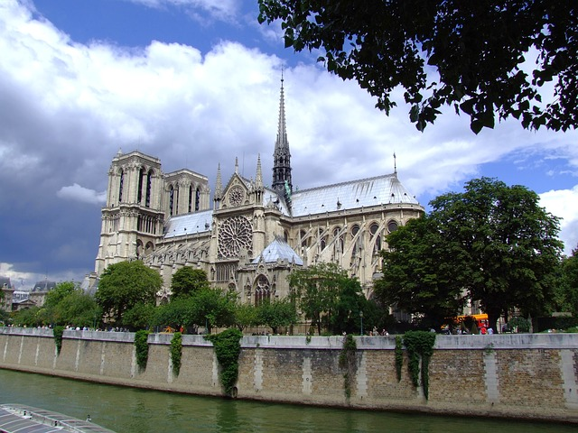 Free notre dame cathedral paris france catholic sky