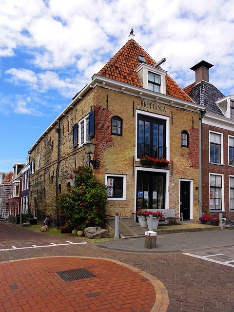 Free netherlands buildings street sky clouds town