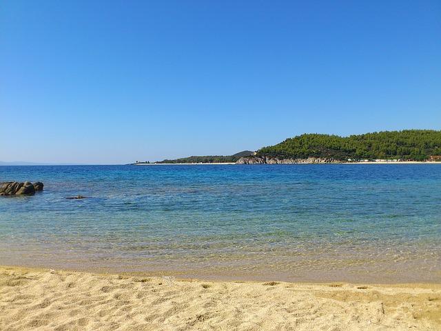 Free beach toroni sea beach sand greece halkidiki