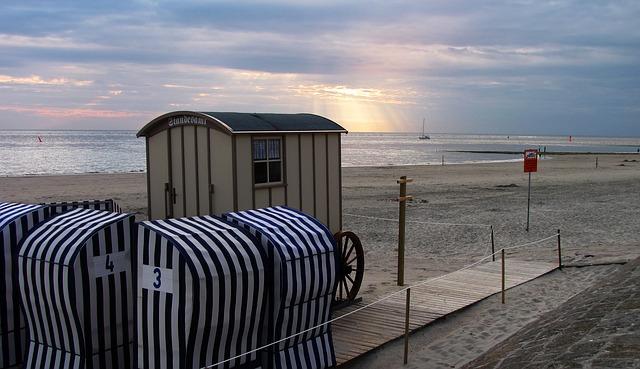 Free norderney registry office abendstimmung sunbeam sea