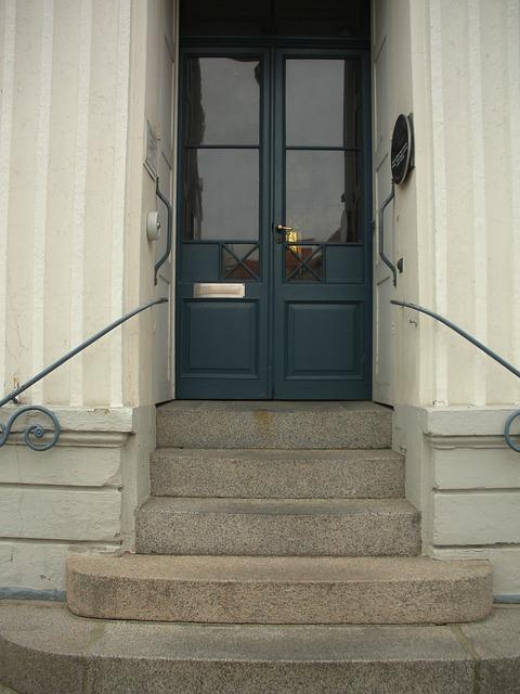 Free century 1800 blue door glass panels stairs