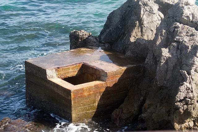 Free bunker sea water coast rocky coast mediterranean