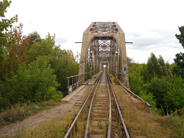 Free poland railroad railway tracks bridge