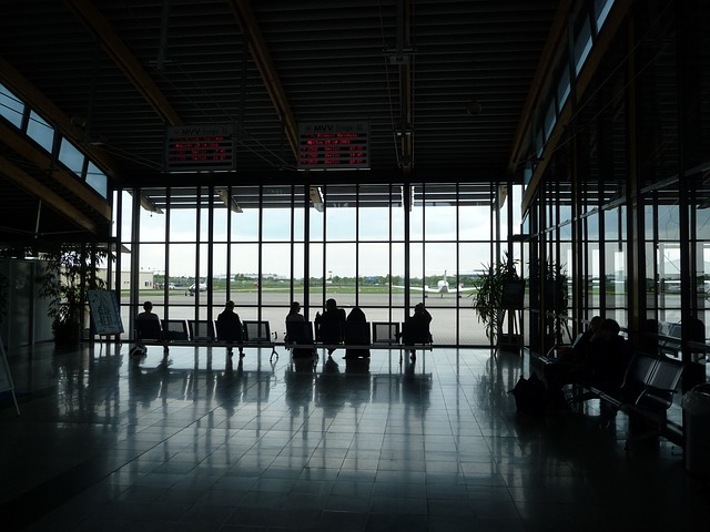 Free airport terminal waiting area passenger lounge