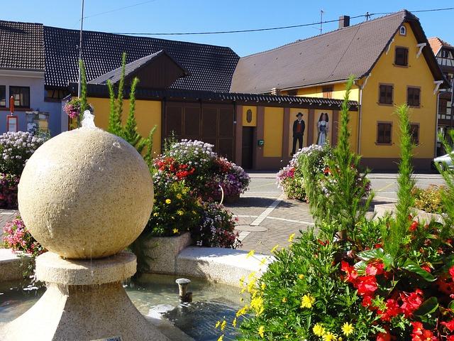 Free france village buildings architecture monument