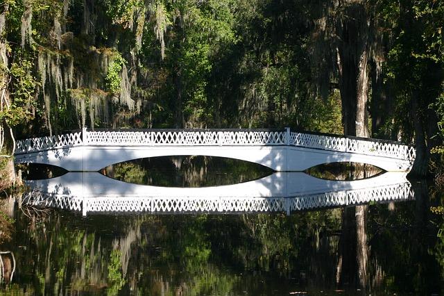 Free bridge crossing white water park