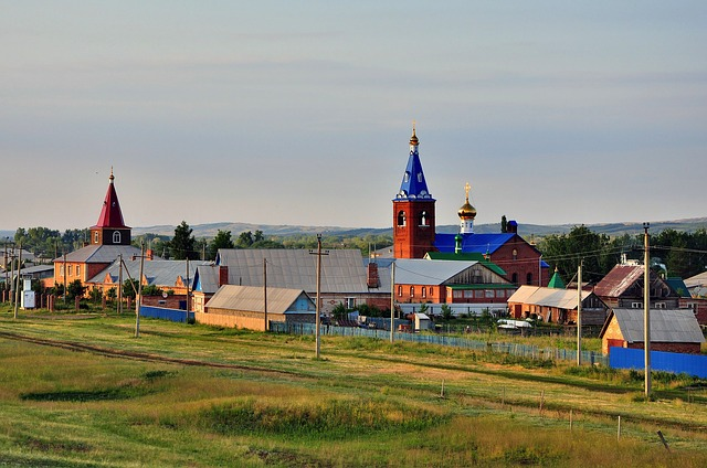 Free russia church village landscape nature outside