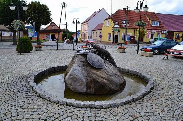 Free poland village monument rock buildings