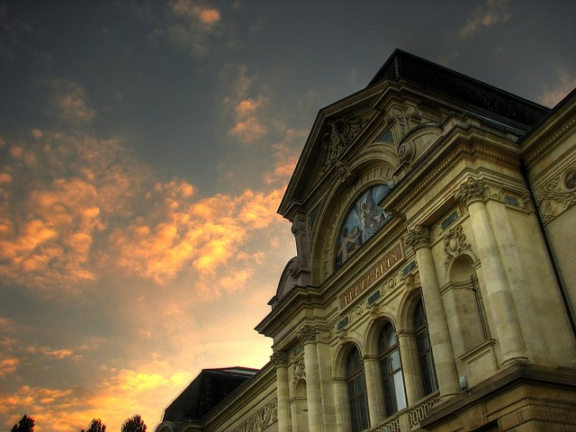 Free neuchâtel switzerland art museum building sunset