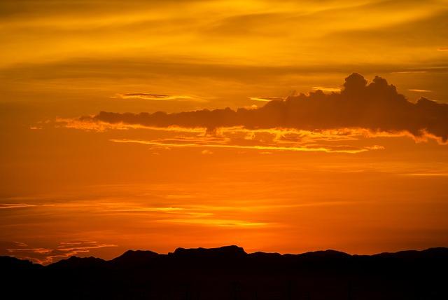 Free arizona sunrise mountains desert landscape nature