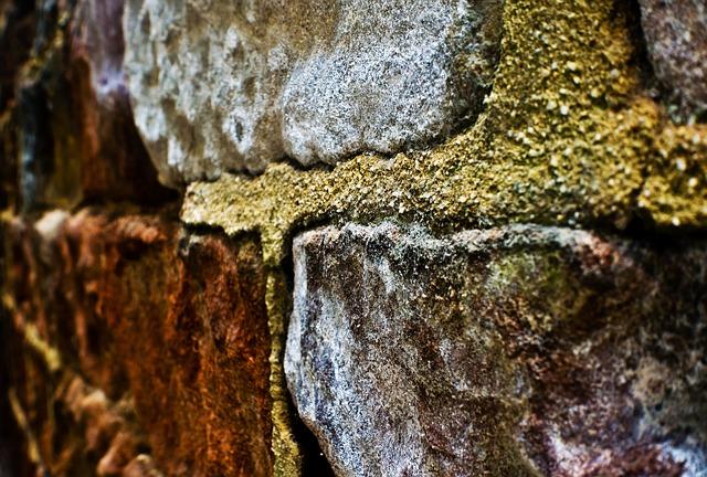 Free wall brick architecture macro rock sandstone