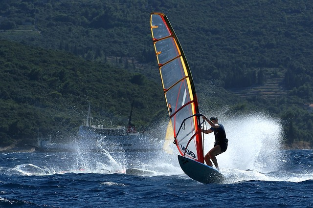 Free windsurfing water sports wind summer croatia sea