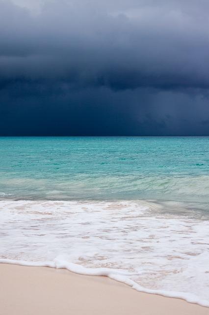 Free beach blue caribbean clouds cloudscape danger