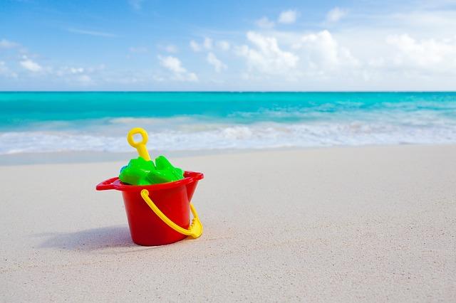 Free sand bucket beach vacation summer shovel plastic