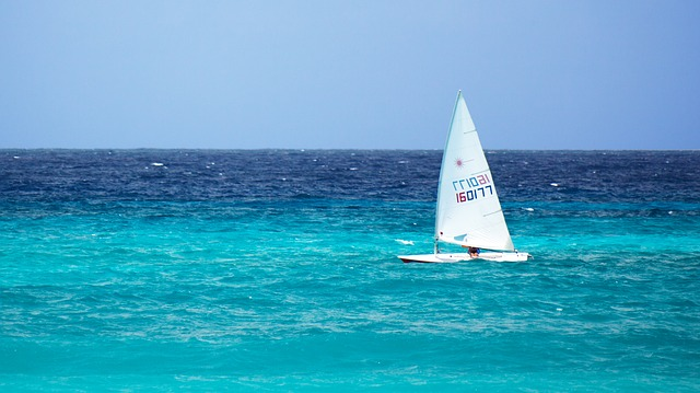 Free blue boat freedom horizon ocean sail sailboat