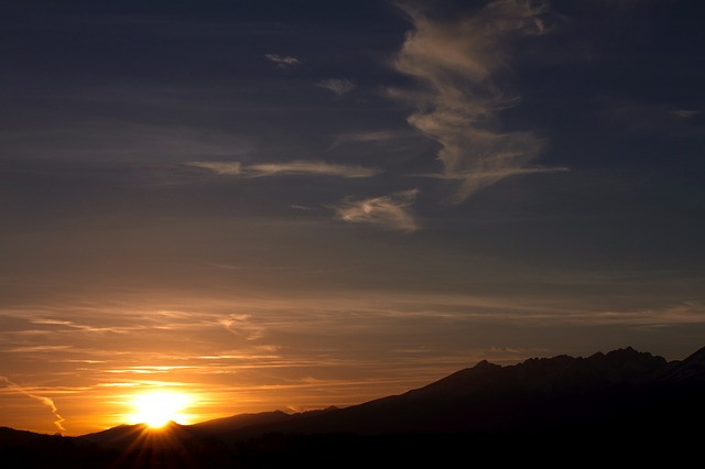 Free sunset sunrise slovakia high tatras poprad