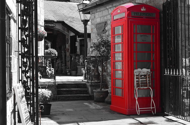 Free telephone booth red england tradition selection