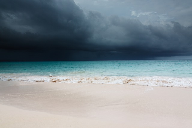 Free beach blue caribbean clouds cloudscape danger