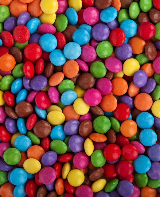 Free background button candy chocolate coated color