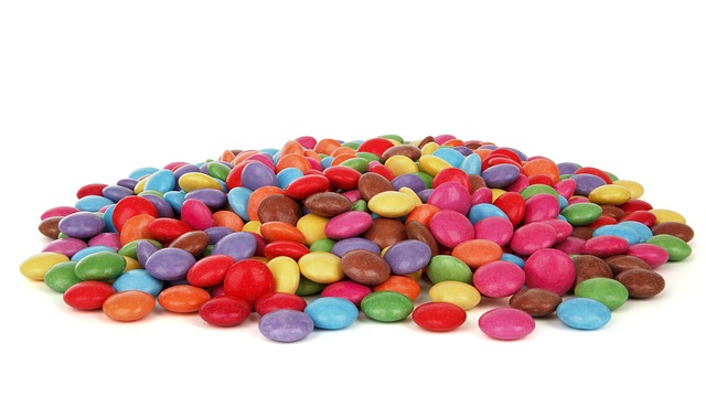 Free button candy chocolate coated color colorful