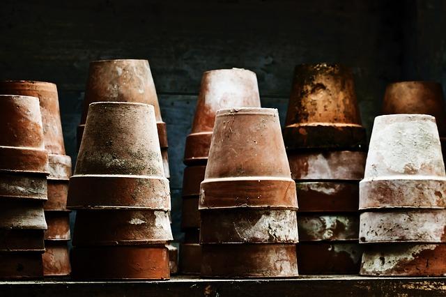 Free pots grunge flower garden old pot shed vintage