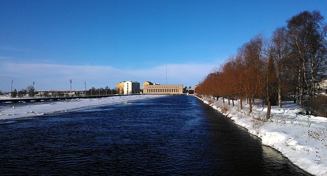 Free finland power plants river water energy sky
