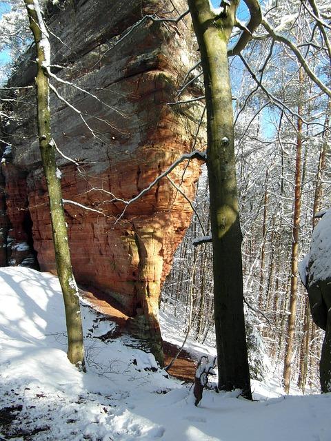 Free rock climb winter palatinate old castle rock