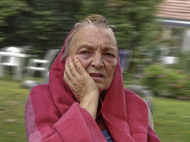 Free old woman human person invalid stroke disease