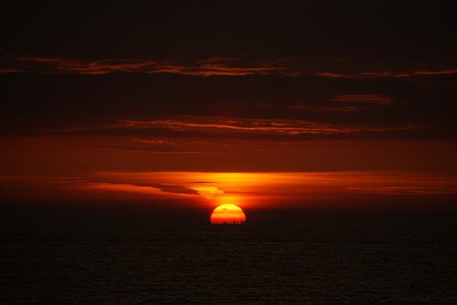 Free sun beach zandvoort see sea setting sunset water