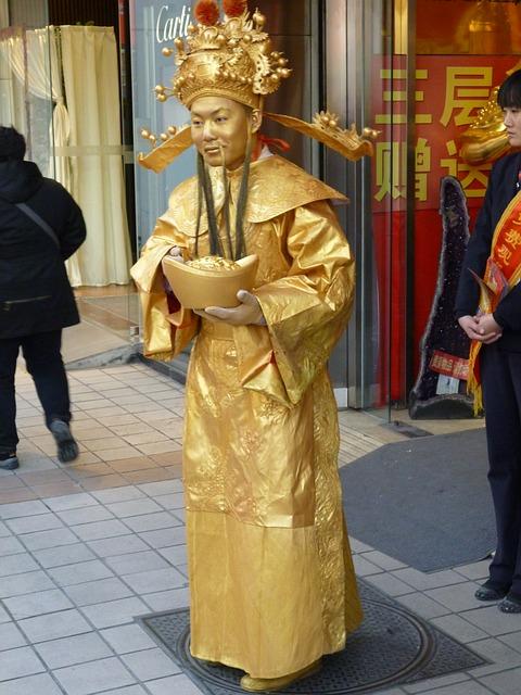 Free Photos: Man pantomime china golden beijing performing arts | Ingo Ehrich