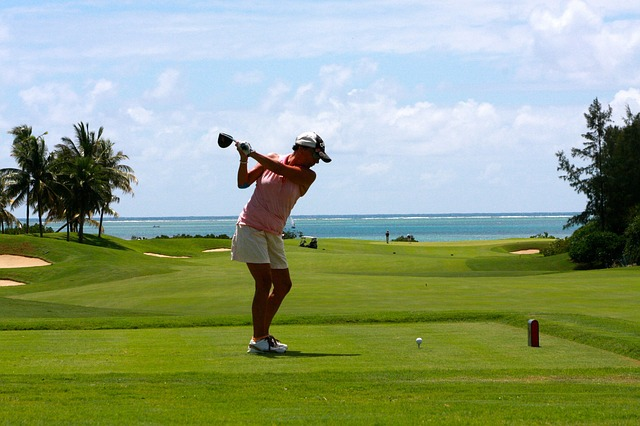 Free golf woman tee golf clubs cool sport action