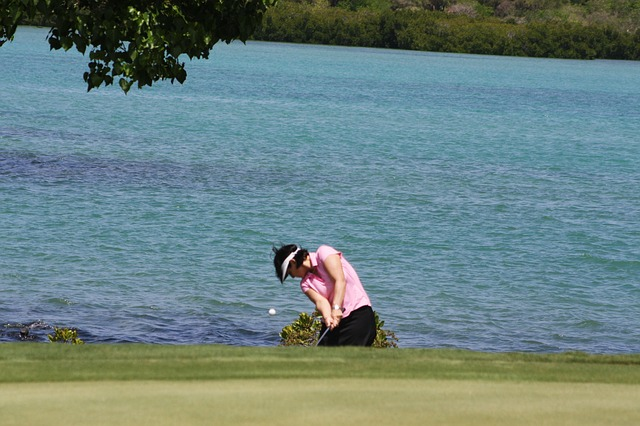 Free golf woman golfer golf ball golf course fairway