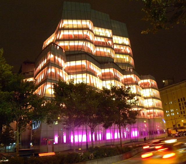 Free new york city building urban night evening lights