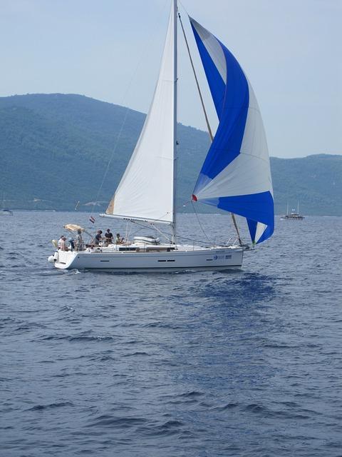 Free sailing boat sea yacht