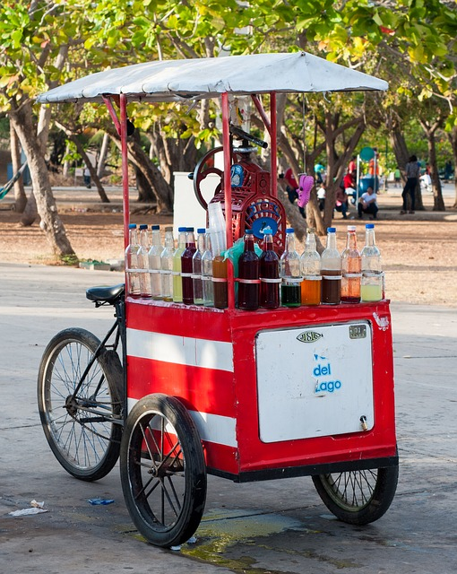 Free ice cream cart bicycle bike street business