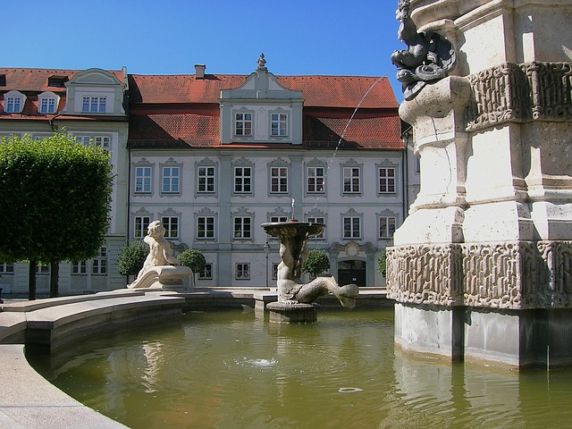 Free germany buildings fountain water architecture town