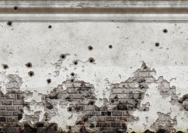 Free wall morbid holes structure bullet holes shots