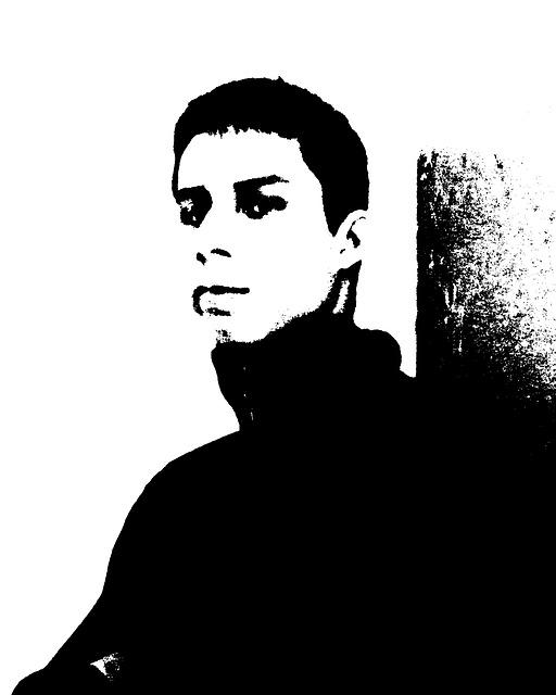 Free man contour person figure silhouette