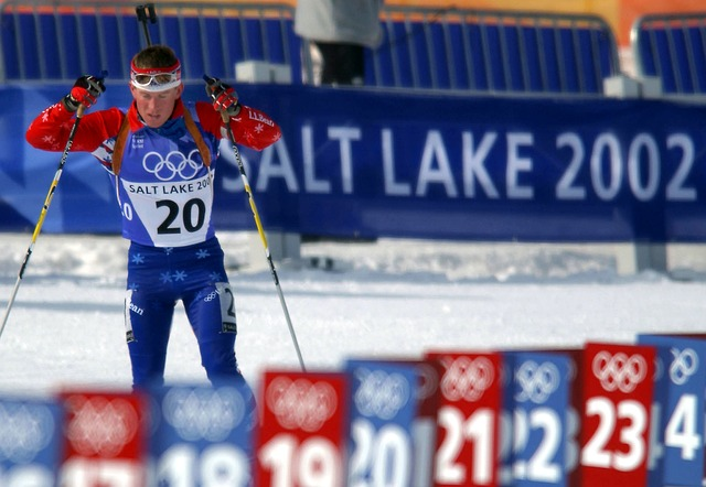 Free biathlon athlete olympics winter snow ice course