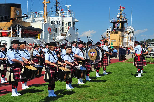 Free grand haven michigan band music bagpipes drums