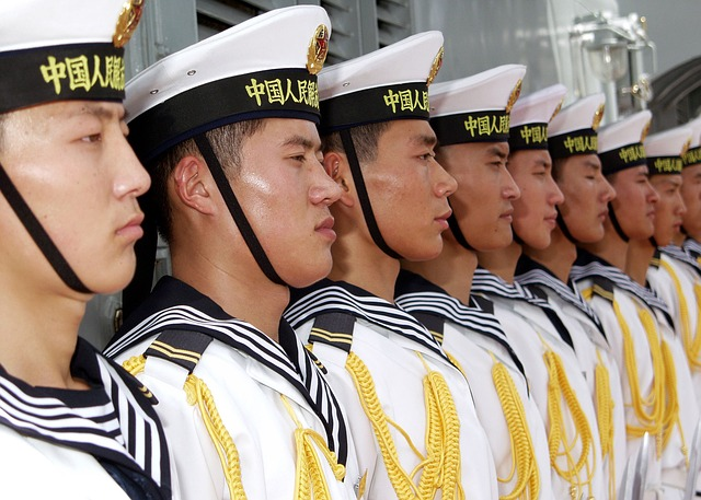 Free sailors chinese china navy military row lined up