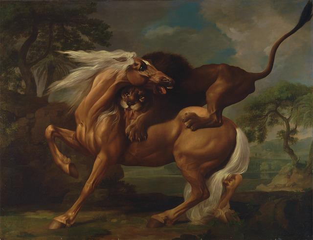 Free george stubbs art artistic painting oil on canvas
