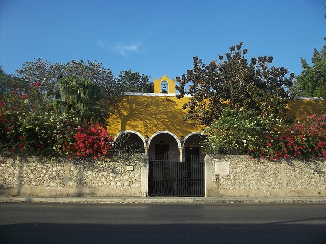 Free yucatan mexico sky clouds entrance house home