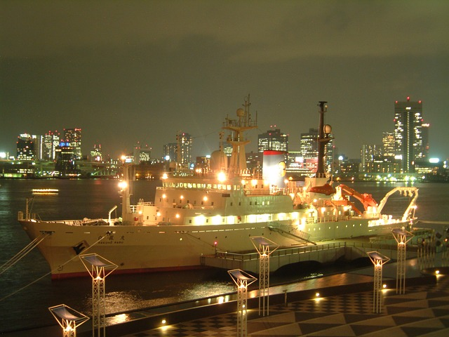 Free tokyo japan port harbor water ship dock pier