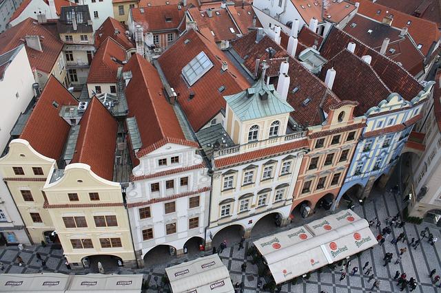 Free downtown old town city prague czech republic