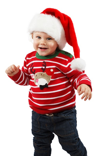 Free smiling little santa claus celebration child